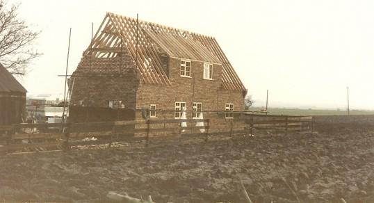 Walnut Cottage, Pymoor Lane, Pymoor, during redevelopment.