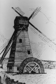 A water drainage mill in Pymoor during the early 19th Century.