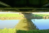 Under the Iron Railway Bridge that crosses the Hundred Foot River at Pymoor.