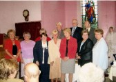 Celebrating the 50th Anniversary of the opening of the Methodist Chapel in Main Street, Pymoor, 2004.