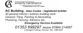 An advertisement taken from the Parish Magazine for Pymoor resident, Alan Cooke's, A C Propery Maintenance Company.