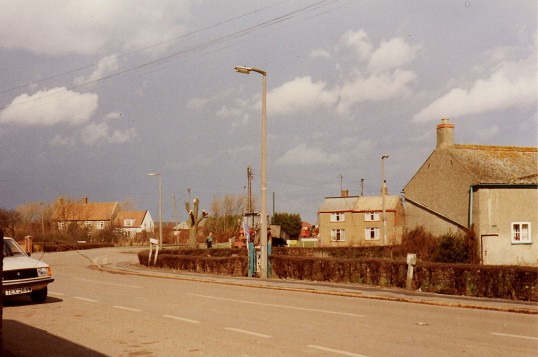 Main Street, Pymoor, looking towards the crossroads and Straight Furlong.