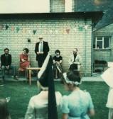 Opening the Pymoor School Garden Fete, Pymoor.