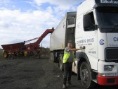 David Chambers with his lorry in Main Drove, Pymoor.