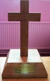 Cross on the Altar Table in the Pymoor Methodist Church.. Chapel Altar Cross