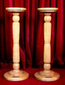 Candlesticks in the Pymoor Methodist Church, 2007.