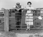 Cecil and Peggy Jordan in Main Drove, Pymoor.