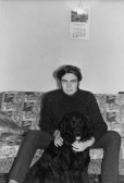 """Colin Jordan, of Main Drove, Pymoor, with his dog """"Toby""""."""