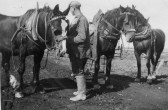 George Harley, Horse Keeper for Clem Graham in Main Drove, Pymoor.