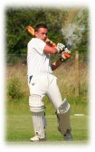 Ashley Legge, playing for Pymoor CC at the Club's Ground in Pymoor Lane, Pymoor 2006.