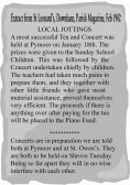 Extracts from the Downham Parish Magazine about a Tea and Concert held in Pymoor.