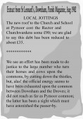 Extract from the Downham Parish Magazine about the cost of repairs to the roof of the Church and School at Pymoor.