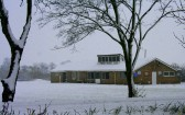 Pymoor Cricket Club on Easter Sunday and there has been a heavy fall of snow in Pymoor 2008.