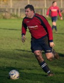 Greg Saberton in play for Pymoor against Wisbech St Mary at the Pymoor Sports Ground 2006.