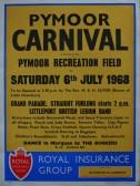 Poster advertising the Pymoor Carnival in 1968.