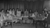 The Girls Club, with their Sale of Work in the WI Hall in Pymoor, 1950