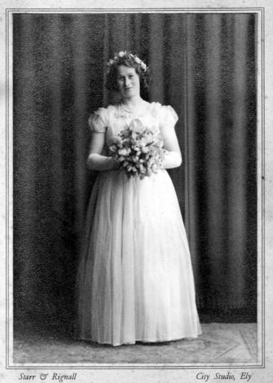 Jane Martin, of Pymoor, as a Bridesmaid.