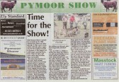 Advertisement feature in the Ely Standard for the 10th Annual Pymoor Show to be held on 5th July 2008.