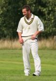 Ashley Legge fielding for Pymoor Cricket Club 2008.