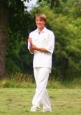 Ed Hale fielding for Pymoor Cricket Club, 2008.