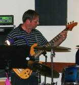 Steve Knowles plays the guitar with the Marx Brothers at his daughter Jess' 21st Birthday Party in the Pymoor Social Club, Pymoor, 2008.
