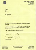 Many letters were received by the residents of Pymoor from Malcolm Moss MP supporting the campaign against the proposed closure of the Post Office in Little Downham, 2008