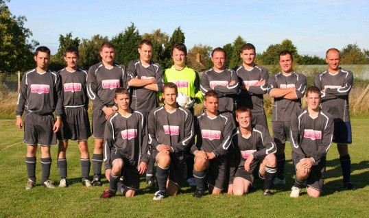 Pymoor Football Club before their home match against Newmarket Town 2008.