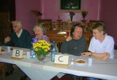Reg Brown and family ran a very successful 'Bygone Quiz' at the Pymoor Methodist Church, Main Street, Pymoor, 2008.