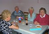 'The Recycled Teenagers' team enjoy the 'Bygone Quiz' at the Pymoor Methodist Church, Main Street, Pymoor, 2008.