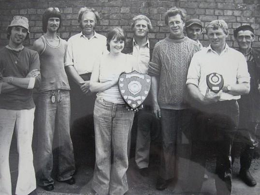 Pymoor Fishing Club. Presentation of the Fishing Shield circa 1975.