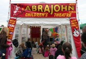 'ABRAJOHN' entertains the children at the Pymoor Show 2008.