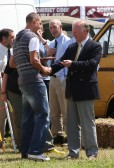 Jim Paice MP presents a prize to Lourens Herselman at the Pymoor Show 2008.