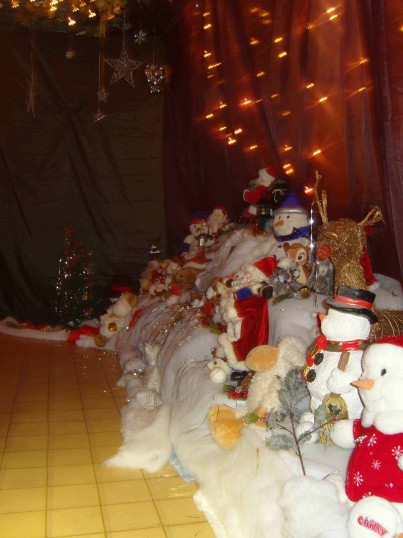 Santa's Grotto is a magical place at the Pymoor Social Clubs Christmas Bazaar 2008.