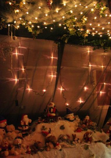 Santa's Grotto is a magical place at the Pymoor Social Club's Christmas Bazaar 2008.