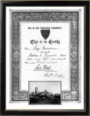 Ivy Norman's certificate of school attendance at Oxlode and Pymoor School, Pymoor.
