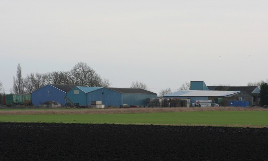 Lane Farm, Pymoor Lane, Pymoor, seen from Straight Furlong.