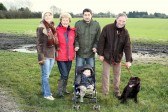 The Golding family enjoy a Boxing Day stroll in Pymoor, 2008