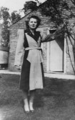 Betty Golding of Ashdene, 5 Pymoor Lane, Pymoor, circa 1946.