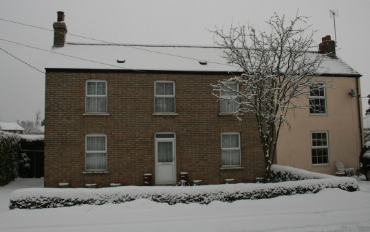 Ashdene, 5, Pymoor Lane, Pymoor, after the heaviest fall of snow seen in the village for many years, 2009.