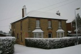 4, Pymoor Lane, Pymoor, after the heaviest fall of snow seen in the village for many years, 2009.