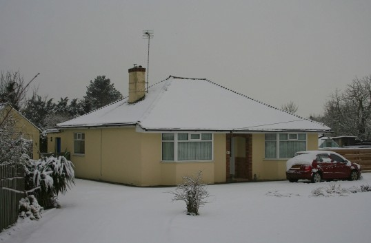 3, Pymoor Lane, Pymoor, after the heaviest fall of snow seen in the village for many years, 2009.