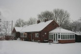 'Chidro', 10, Pymoor Lane, Pymoor, after the heaviest fall of snow seen in the village for many years 2009.