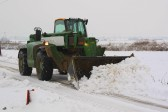 Clearing the snow from Main Drove, Pymoor, (outside Laurel Farm), after the heaviest fall of snow seen in Pymoor for many years.