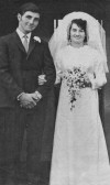 The wedding of Norman and Pam Golding of Pymoor, 1969.