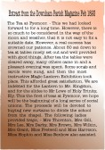 Extract from the Downham Parish Magazine dated Feb. 1893 about a Social Evening held in Pymoor in aid of new curtains for the church.