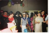 Villagers enjoy a Fancy Dress Party at the Pymoor Social Club, Pymoor Lane, Pymoor (circa1992).