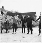 Ice Skating at Head Fen, Pymoor 1963.