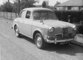 Richard Golding of Pymoor's first car.