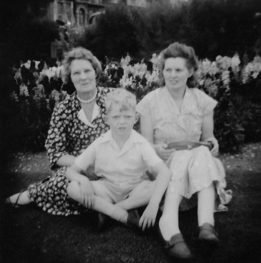 Dora Darby with Betty and Richard Golding of Pymoor.