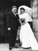Wedding of Alan & Ann Golding (nee Barker) at the Methodist Chapel, Main Street, Pymoor. 1966